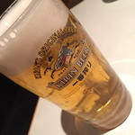 魚我志 むさし - キリン一番搾り生中ジョッキ(500円)2016年3月
