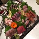 魚我志 むさし - 刺身 大漁盛り(2,500円)2016年3月