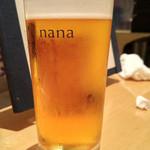 菜な - 生ビール
