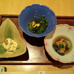 菜な - おばん菜三種盛り