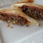 ル・シエル - 米沢牛ハンバーグのホットサンド830円