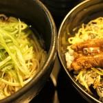 蕎麦Diningすが - 煮穴子丼+そばセット 1,000円 16年4月