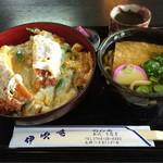 伊吹庵 - カツ丼ミニうどんセット
