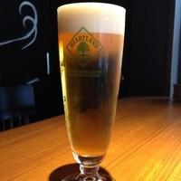 鉄板餃子酒場 ちびすけバル - ハートランド生は薄いグラスで飲むと美味しさUP!