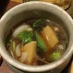 ぼっかけや - 春野菜ときざみ鴨のつけ汁