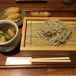 ぼっかけや - 春野菜ときざみ鴨のつけ汁そば(十割)1400円