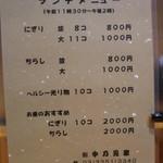 Nakanomiya - メニュー