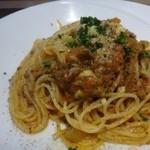 リストランテファンタジスタ - ◆牛肉と新玉ねぎのボロネーゼクリームソース・・新玉ねぎの甘みを感じ、美味しいボロネーゼだとか。       パスタの茹で加減も丁度いいそうです。