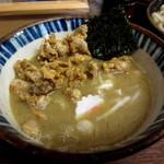 49621082 - 『つけめん 煮番搾り』¥850円+『鶏皮』¥150円