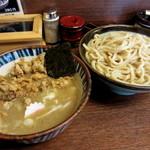 49621159 - 『つけめん 煮番搾り』¥850円+『鶏皮』¥150円