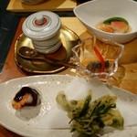 さらの木 - (2016/2月)夕食の天ぷらと小鉢と蒸しもの