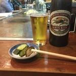 美澄 - お突き出しとキリンビール