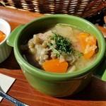 49630752 - 「アンザス風田舎スープ ~塩ゆで豚肉、レンズ豆、シュクルート(キャベツ酢漬け)」