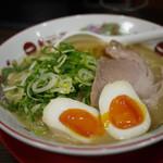 天下一品 - こってり煮卵ラーメンねぎトッピング~☆