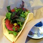 パークカフェ - 京野菜ピザサンドとコーヒー