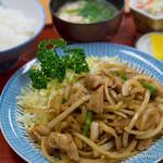 花屋食堂 - 料理写真:生姜焼き定食【2016年4月】