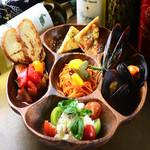 おまかせ前菜の盛り合わせ5種