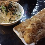 金太郎 - 4月のおすすめ品  筍の鉄板焼きと新玉ねぎのサラダ