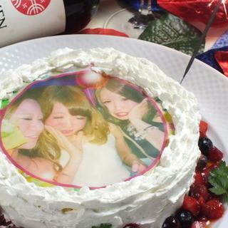記念日サプライズはお任せ♪食べられる写真ケーキ3000円