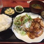 むちゃく - 炭焼定食豚ロース=750円