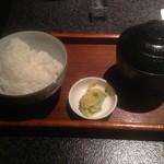 ダイニング マツイ - 白ご飯は美味しい