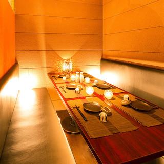 プライベート空間を造る個室!接待・会食・デートにもぴったり◎