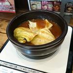 49646404 - どろどろ濃厚つけ麺スープ on the IH