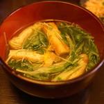 味禅 - 水菜とお揚げ