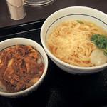 49662835 - 「和風牛丼ミニとはいからうどん]」500円(2016年3月)