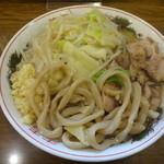 眞久中 - 小ラー 麺少なめニンニク
