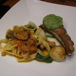 ディーフゥ - ランチ・メイン:仔羊鞍下肉のバジリック風味、南仏野菜のヌイユを添えて