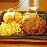 洋食処 善 - ハンバーグ&牡蠣フライ(ランチ)