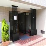 鴨蕎麦 尖 - 建物の入口