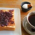 焙煎工房 ベア - 料理写真:ベアモーニングセット(550円)+小倉あん(100円)