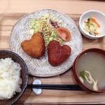 和風カフェ しゅしゅ - コロッケ定食