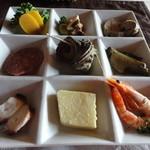 寿屋本家 - 前菜9種盛り