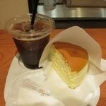 りくろーおじさんの店 (新)なんば本店  - ・「チーズケーキセット(\378)」