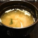 魚鮮水産 三代目網元 - 味噌汁