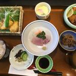 味のなかがわ - 日替り定食=800円 鯛の甘酢かけ豚角煮セット