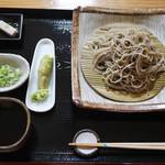 蕎麦正 まつい - ざるそば(1000円)
