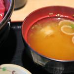 大起水産 海鮮レストラン - お味噌汁