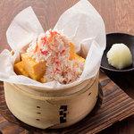 北海道 - 蟹のせ自家製厚焼き玉子