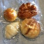 シモン - かぼちゃパン、クリームパン、塩パン、メロンパン