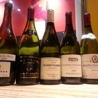 100種類以上のこだわりワイン