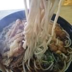 六文そば - 麺アップ
