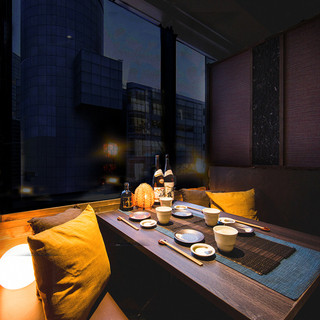 完全個室完備!渋谷の夜景を眺めながら優雅に新年会,飲み会◎