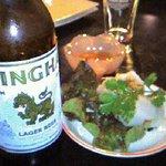 サヤーム - 料理写真:ビールと生春巻き