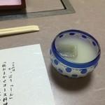 かっぽうしん - ドリンク写真:1.食前酒 白桃カクテル