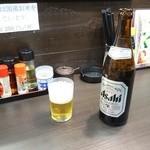 餃子太郎 - 中瓶ビール500円(税抜)