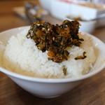 ばりきや - 辛子高菜オンザライス